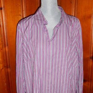 Ralph Lauren Purple Striped Shirt Size 3X